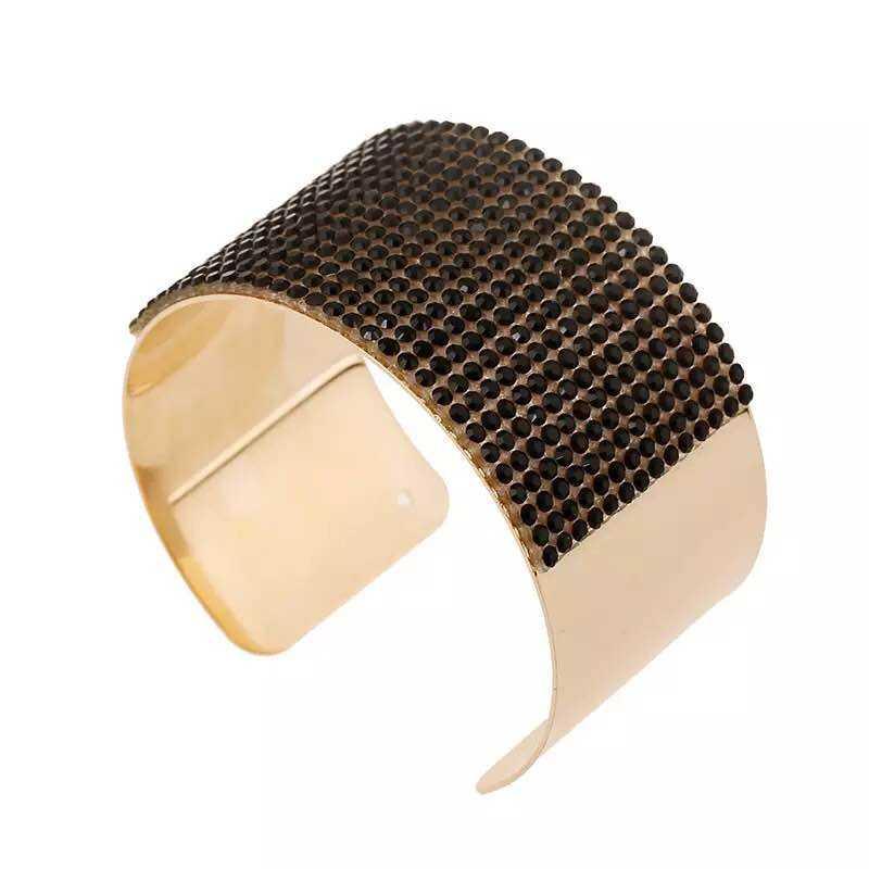 Chapado en oro tornillo abierto indio joyería de las mujeres Polki brazalete pulsera para las mujeres y las niñas