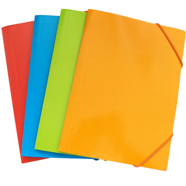 Customized a4 paper storage bag elastic closure file folder