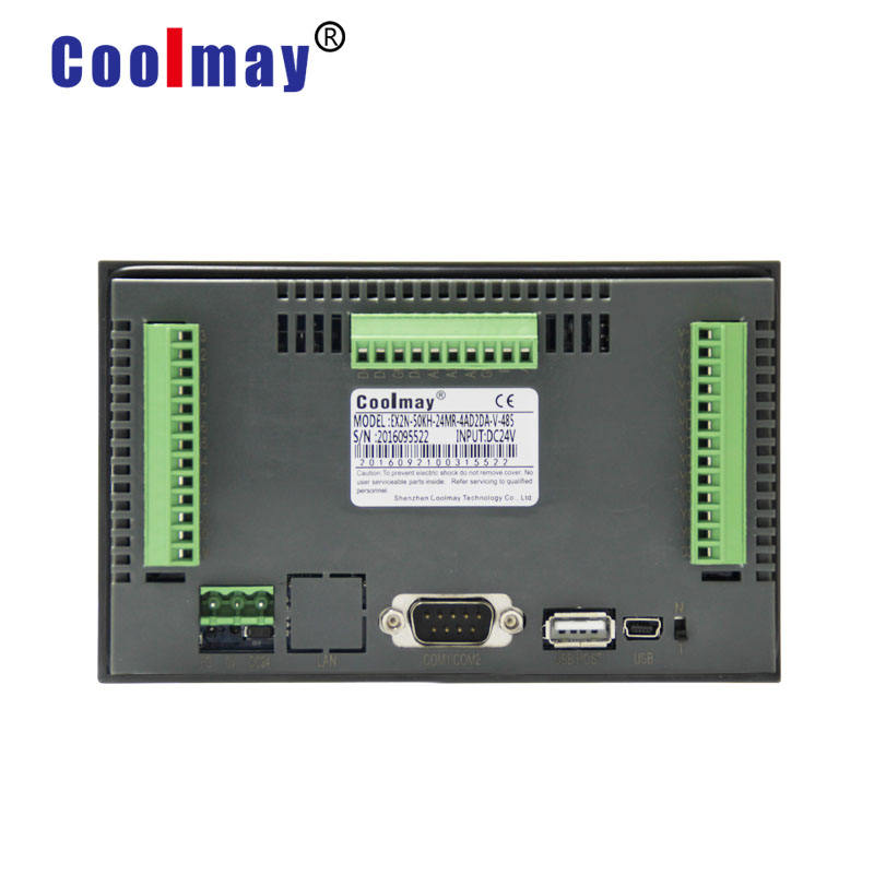 Manufacture 5 inch 800*480 pixels 12do relay outputs rs485 port hmi plc with touch control