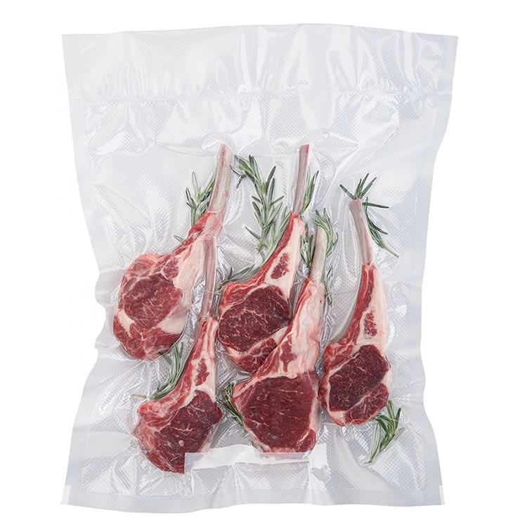 Factory price food grade 3 side sealed Vacuum packing bag/nylon retort pouch for frozen food with tear notch