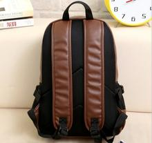 Hot Selling Fashion Travelling Waterproof PU Leather Laptop Backpack for Men Women