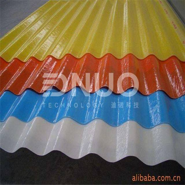 FRP transparent corrugated roofing sheets for greenhouse canopy / Fiber Glass Products
