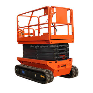High quality battery power electric self propelled crawler tracked scissor lift platform
