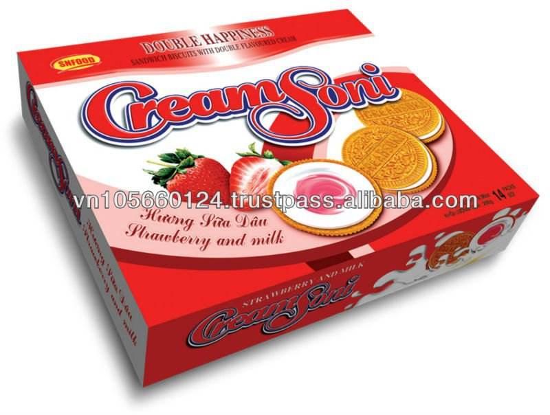 le lait biscuits saveur de fraise