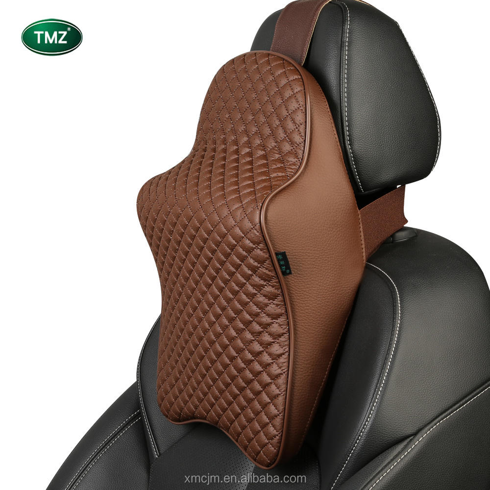 Car accessories neck headrest cervical pillow lumbar office chair seat cushions memory foam pillow cushion back support for car