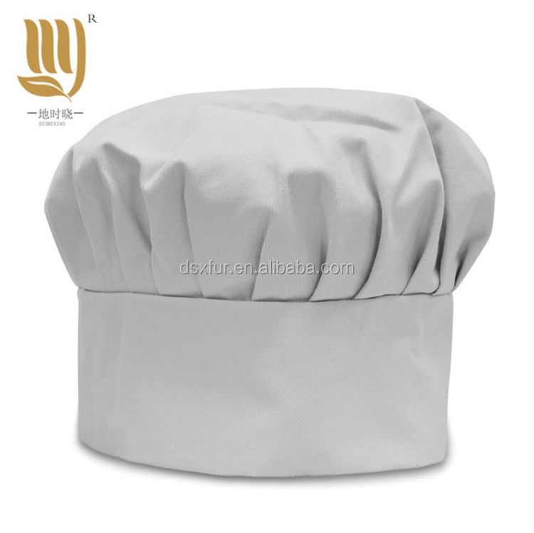 Cheap Price Custom 100% Cotton polyester White Blank Plain Chef Hat Cap Bakers Hat For Cooking