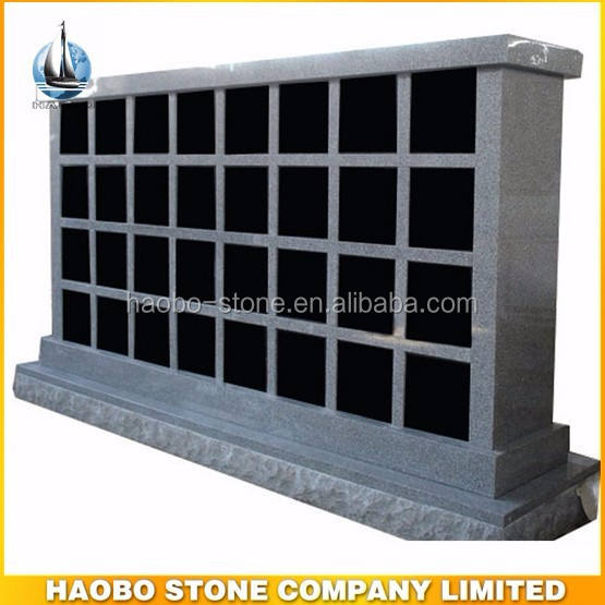 Black Granite 32 Niche Columbarium Design for Sale