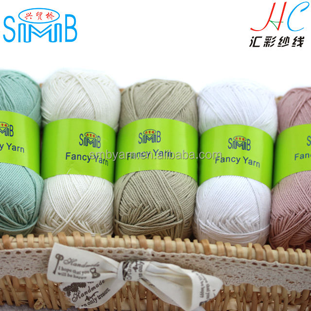 china SMB knitting yarn manufacturer best selling standard 3 ply 4 ply hand knitting yarn 100% cotton