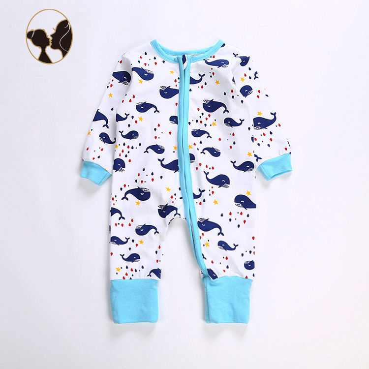 Folding cuffs hot sale soft and comfortable angels baby clothes baby apparel especially for newborn baby