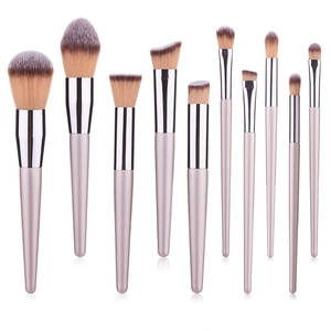 New 1pcs Makeup Brush Private Label Kit Champagne Cosmetic Beauty Tools Eyeshadow Eyeliner Blush Brush Set OEM