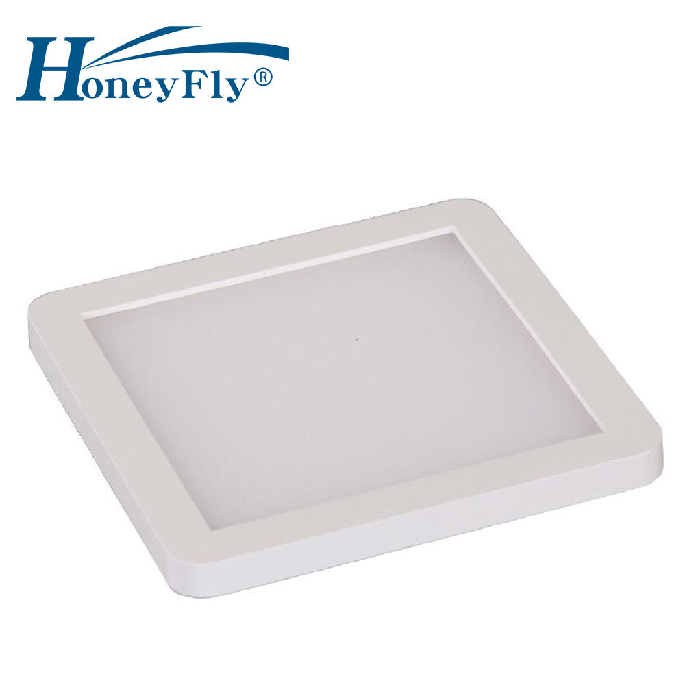 Honeyfly LED Panel Light 12V 3W Tersembunyi Kontrol Suhu Warna Dapur Kamar Mandi Lampu Mini Square LED Langit-langit Panel cahaya
