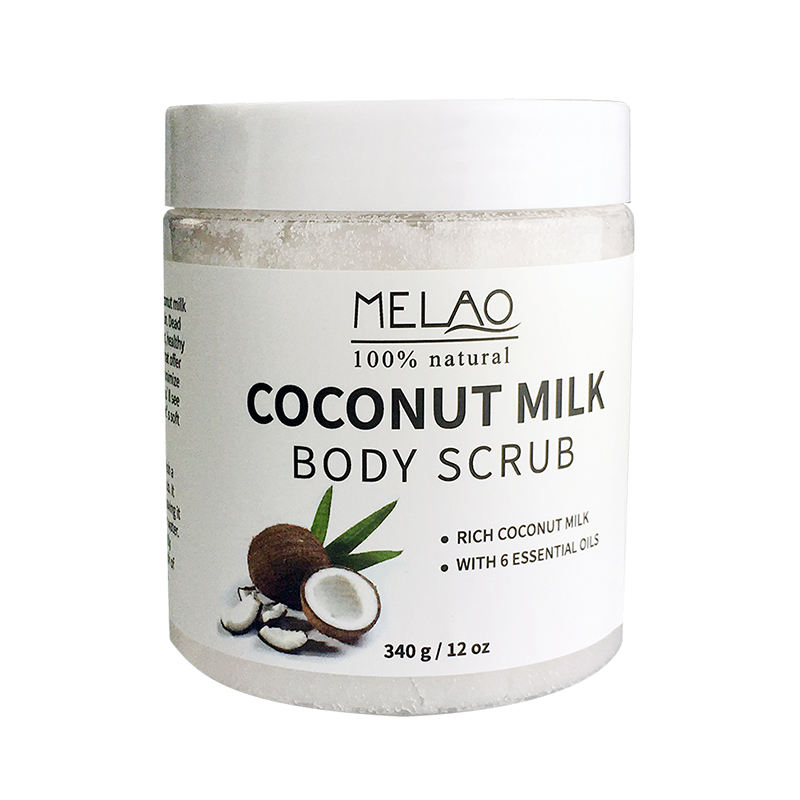 Private Label Coconut Milk Scrub Natrual Ingredients Moisturizing Exfoliating Body Bath Salt