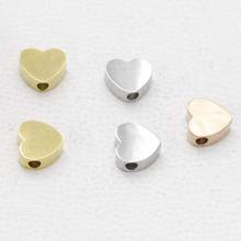 Mirror Polished Gold Filled Jewelry Stainless Steel Love Heart Charms for DIY Making