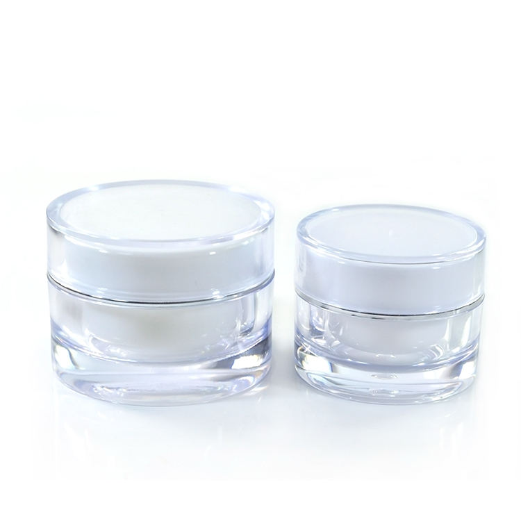 Stock hot sale 5g 10g 15g 30g 50g new style face cream acrylic cosmetic jar with skin Care Cream