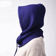 Classical warm custom color knitted wool hat scarf