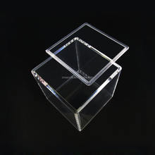 Clear transparent favors small custom square cube storage gift package display acrylic box