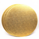 bakery drum, round gold curragated paper cake board base