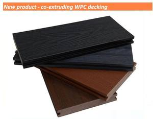 Ao ar livre co extrusão de WPC wood plastic composite decking piso laminado