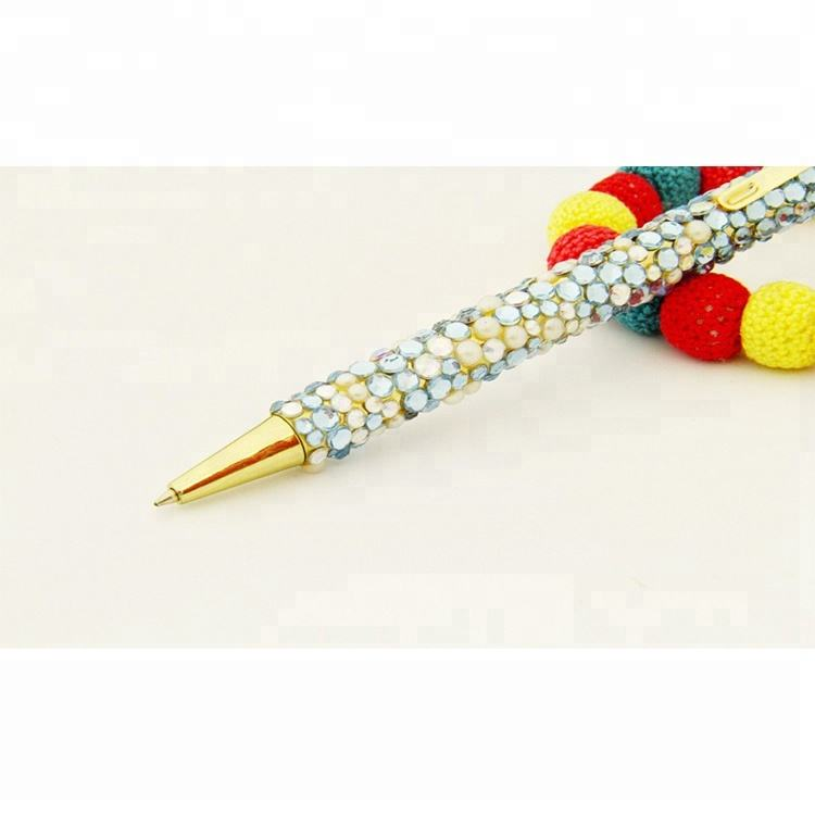 hot selling mixed stone clear rhinestone long pen