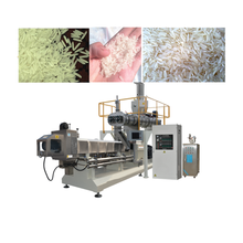 Long Thin Jasmin Artificial Rice Extruder Precook Fortified Rice Making Machinery