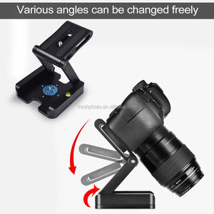 Quick release dslr camera mount aluminium statief connector opvouwbare mini cctv pan tilt unit