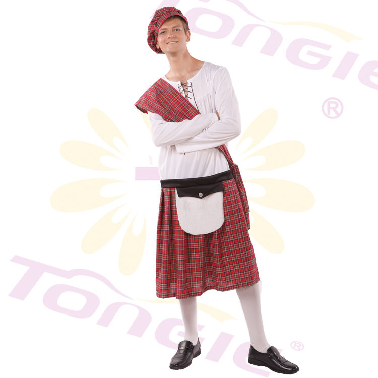 Mens Scotsman Well Hung Highlander Costume Scottish Fancy Dress Party Outfit