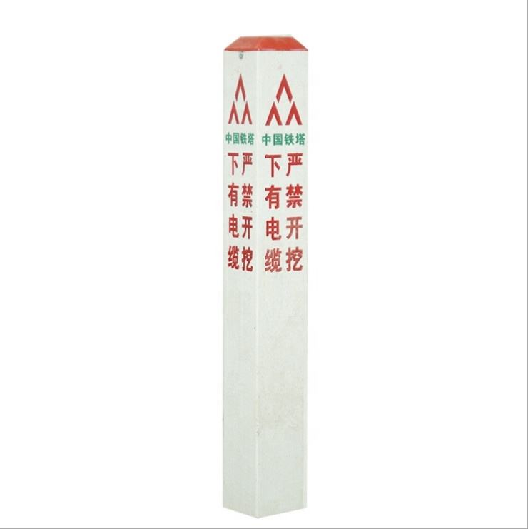 High strength Fibreglass Reinforced Plastic FRP customizable outdoor symbol warning pile