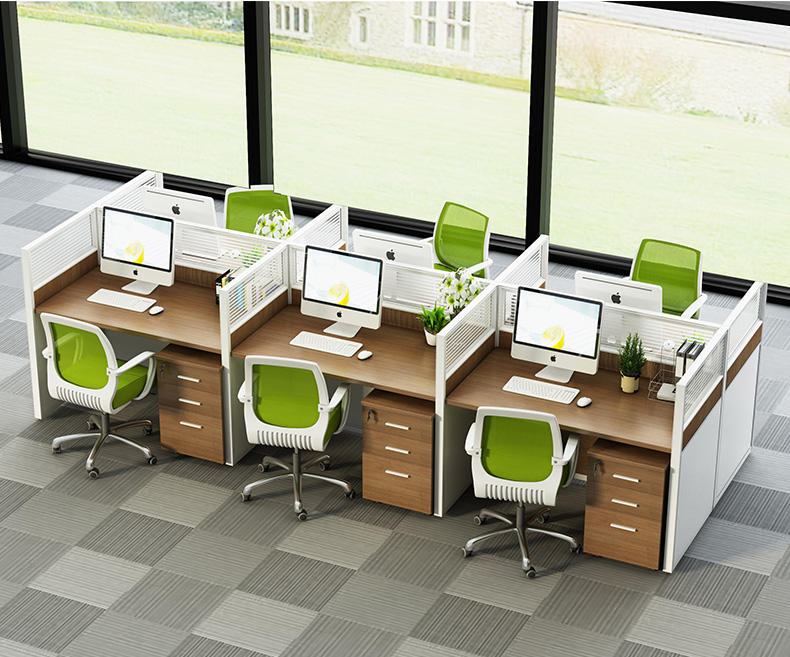 High Quality Modular Office Furniture Workstation With Plastic Partition Call Center Modern 1-6 Office Desk Screen Partition