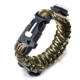 Colorful paracord braiding bracelet with tools for paracord emergency situations