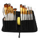 Ready to ship 15Pcs Nylon Hair Artist Paint Brush Set with Black Case Palette Knife and Sponge For Oil Painting