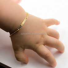 Fashion Baby Name Bar id BraceletGold Plated Dainty Hand Stamp Customized Personalized Engraved Bracelet