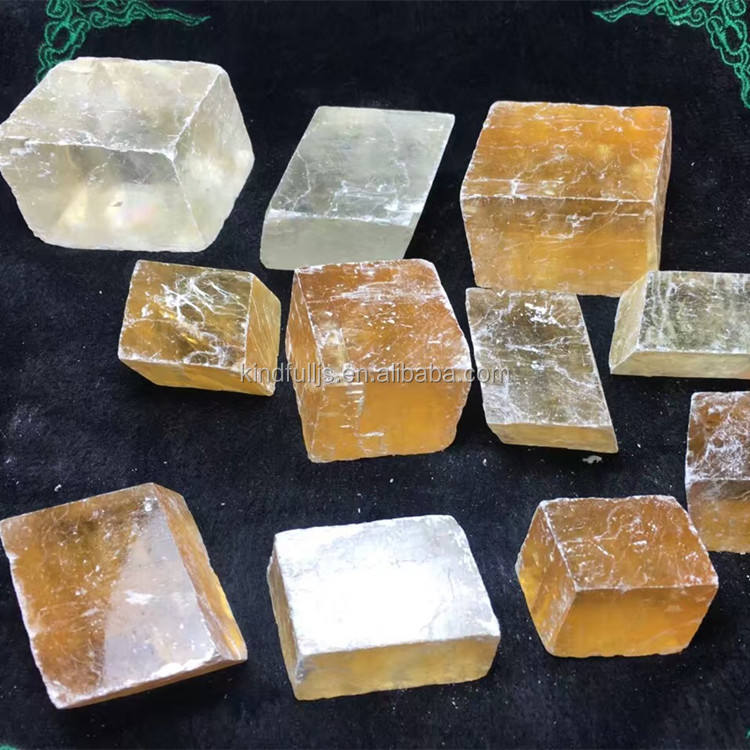 Natural Rock Calcite Mineral Ice land Spar Crystal Stone Wholesale