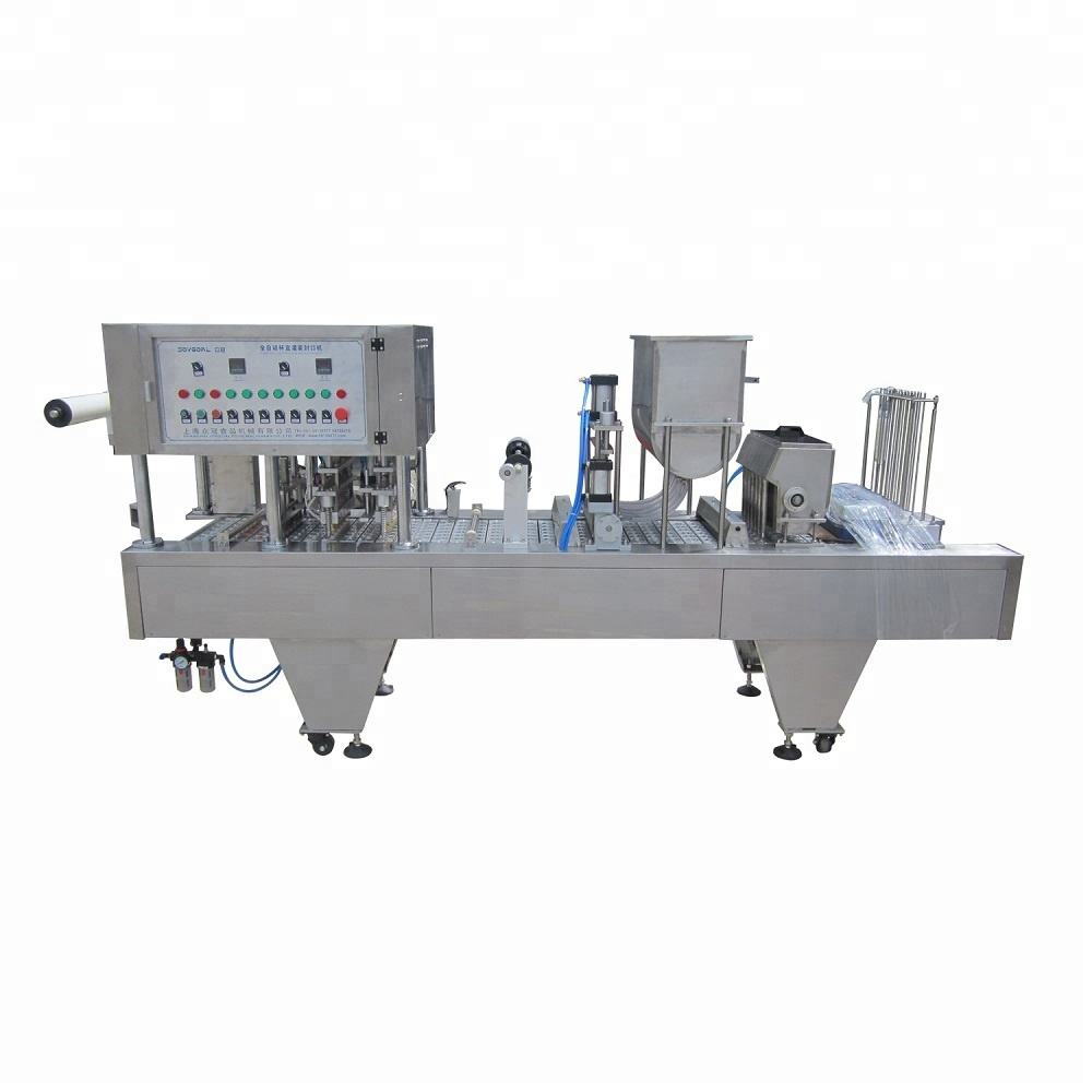 rotary iced tea/water cup filling sealing machine made in shanghai