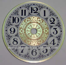 Metal aluminum surface clock dial with classical design craft small clock faces