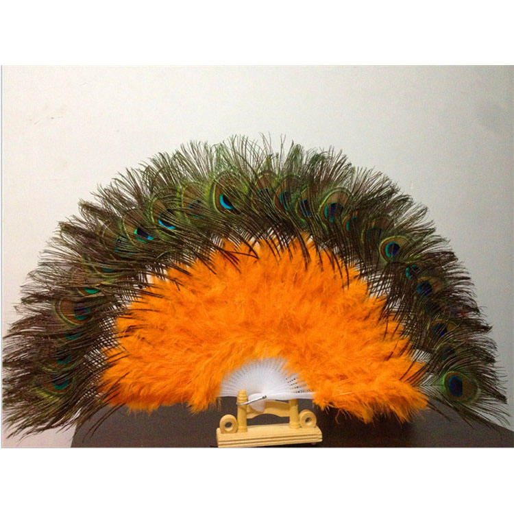 IEF-05High quality peacock feather fan for chaeap sale