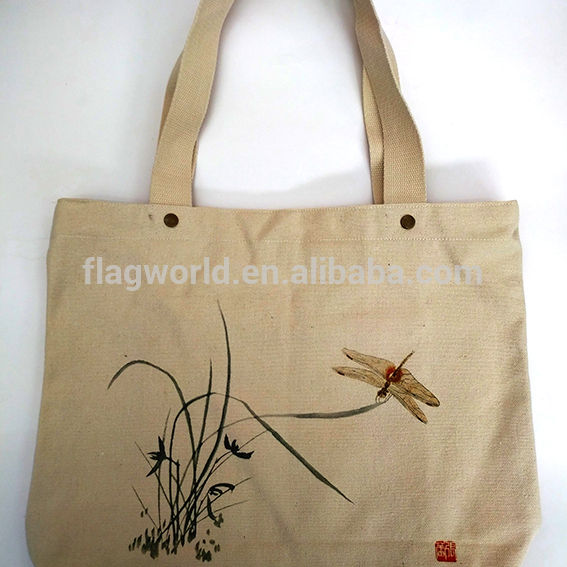 Customized recycled promotional cheap cotton canvas tote bag/wine packing canvas shopping bag