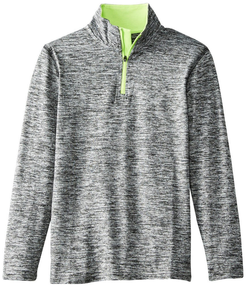 Brushed Heather Space Dye Quarter Zip running shirt