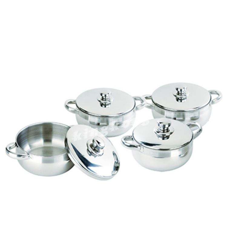 Indian Cheaper Stainless Steel Induction Cooking Pot Utensils On Sale