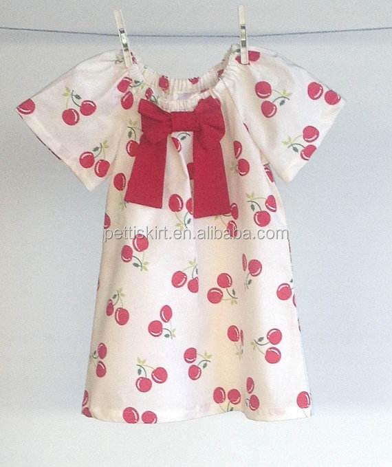Fashion design smalle girl dress latest dress patterns for girls baby cherry dress
