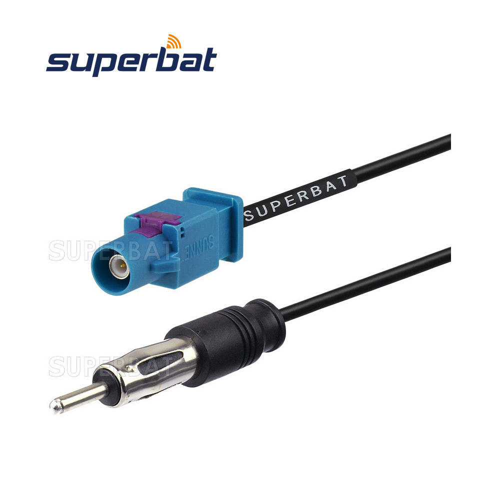 Auto Radio Antenna Adapter Cable FAKRA DIN ISO Car Antenna Aerial Adaptor Connector Cables and connectors