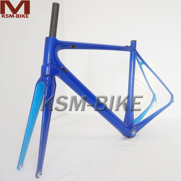 SKY blue painted carbon fiber bicycle frame road bicycle frame 830g only