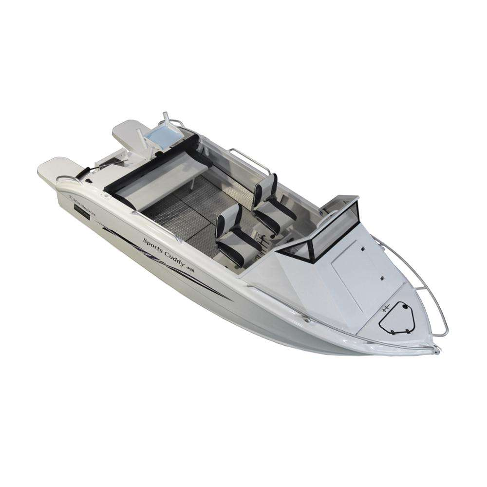 2018 New small aluminum racing cabin motor boat for sale