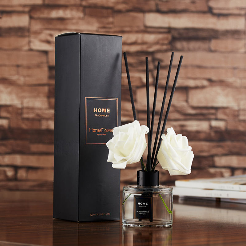 Wholesale Custom Glass Bottle Home Room Scent Fragrance Reed Diffuser Gift Set