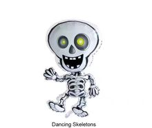 2018 hot sale dancing skeletons and skull shape foil balloons for halloween festival party decoration