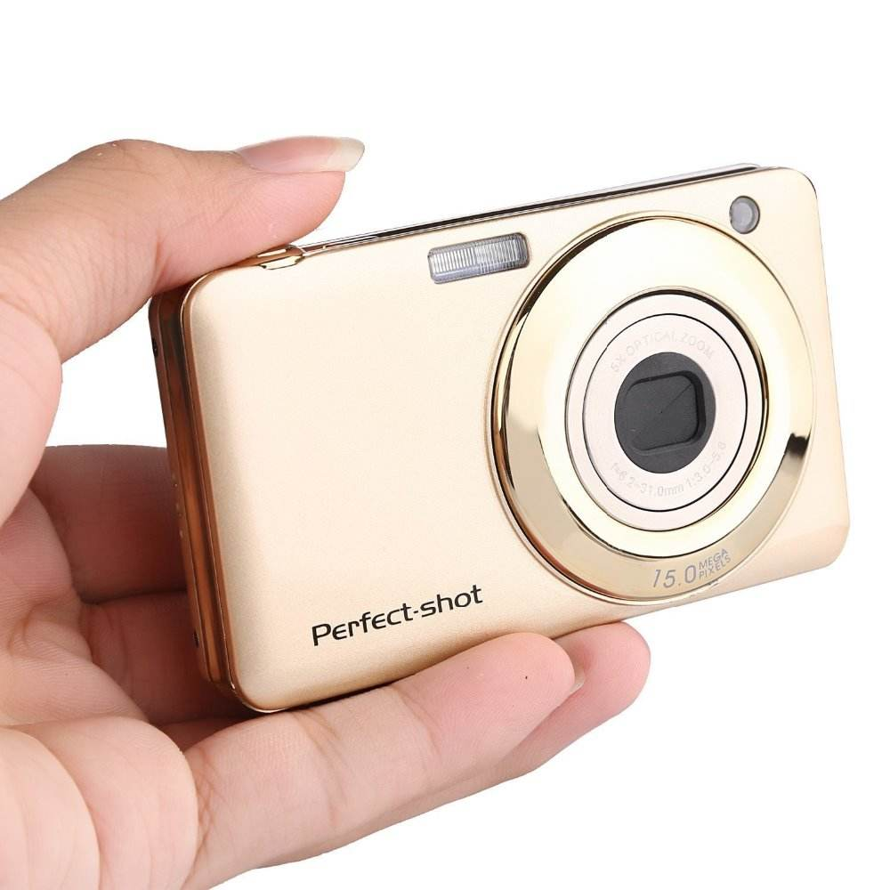 "20.0MP 5X Optical Zoom Digital Compact Camera with 2.7"" TFT Screen Max 32GB Anti-shake Face Detect Smile Capture Marco Function"