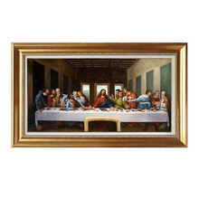Hand Painted Museum Quality Canvas Art Reproduction Famous Oil Painting Of Leonardo Da Vinci The Last Supper