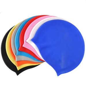 High quality waterproof silicone swimming cap for long hair