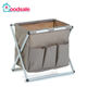 Wholesale Foldable Storage Washable Metal Rack Laundry Hamper Sort Cart Basket with 3 pockets