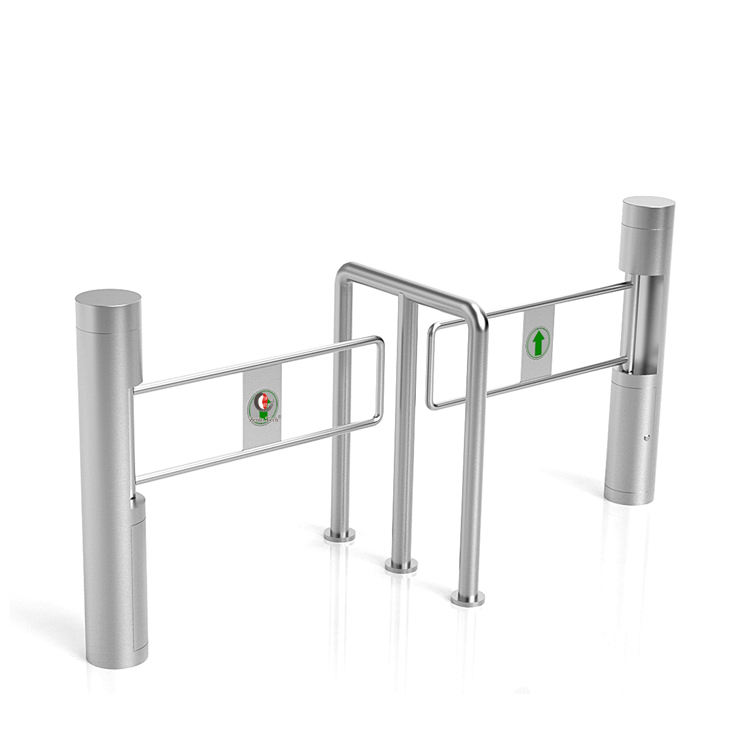 Single Swing Control Turnstile Security Lock Gate Manual 1 Way Stainless steel