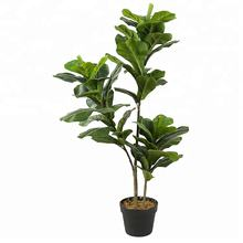 Artificial Plants Indoor Potted Plant  Fiddle Leaf Fig Tree Ficus Lyrata Eco-Friendly PEVA 1M/3.28Ft